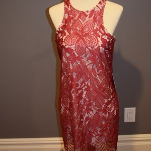 Express Lacey Red Dress